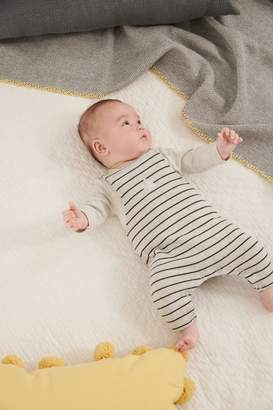 Next Boys Monochrome Star Dungarees And Bodysuit Set (0mths-2yrs) - Grey