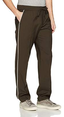 Vince Men's Wool Track Trouser with White Piping