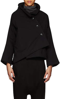 Yohji Yamamoto Regulation Women's Cotton-Blend Ripstop Crop Jacket - Black