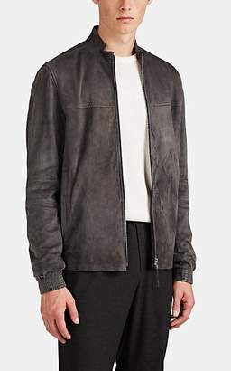 Theory Men's Tremont Suede Zip-Front Jacket - Gray