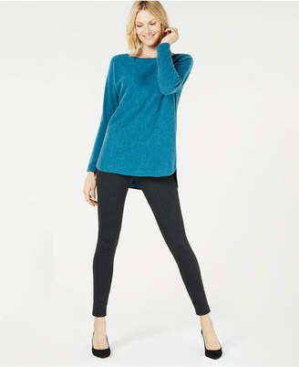 Charter Club Pure Cashmere Pullover Shirttail Sweater in Regular & Petite Sizes