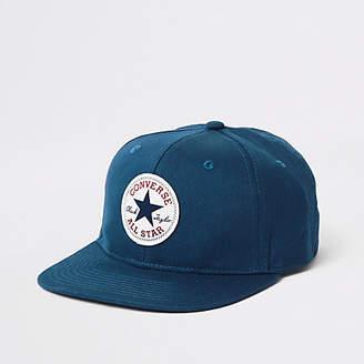 Converse Boys navy flat peak cap