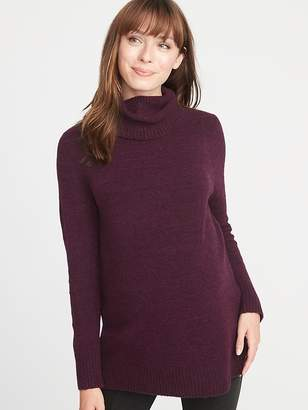 Old Navy Maternity Relaxed Turtleneck Tunic Sweater