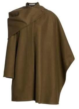 Jacquemus Bibi Virgin Wool-Blend Cape Coat