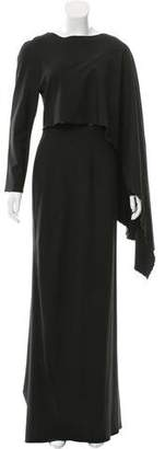 Zac Posen Draped Long Sleeve Gown w/ Tags