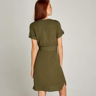 f9188cac564 Apricot Khaki Button Down Utility Dress
