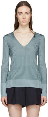 Rag & Bone Blue Alyssa V-Neck Sweater