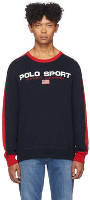 Polo Ralph Lauren Navy and Red Logo Sweater