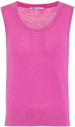 Agnona Cotton-blend sleeveless top