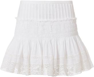 LOVESHACKFANCY Camilla Crochet Lace Mini Skirt