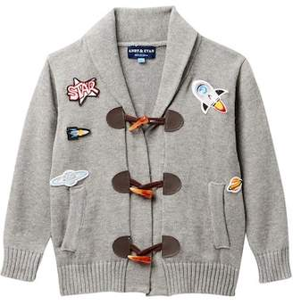 Andy & Evan Patches Toggle Sweater (Toddler & Little Boys)