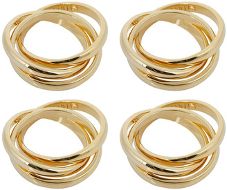 L'OBJET 3 Ring Napkin Rings - Set of 4