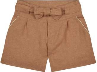Chloé Lurex Tweed Tie Front Shorts