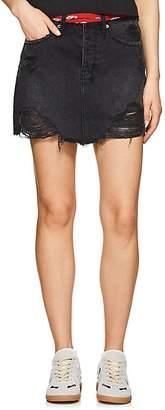 Ksubi Women's Moss Distressed Denim Miniskirt