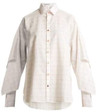 Palmer Harding Palmer//Harding Palmer//harding - Checked Long Sleeved Shirt - Womens - White Multi