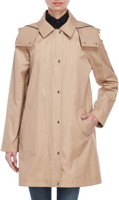 Tommy Hilfiger Solid Hooded Raincoat