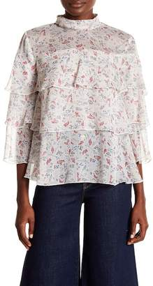 Philosophy Apparel 3/4 Sleeve Tiered Blouse