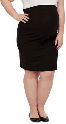 0bf0c95d4f8 BELLE + SKY Belle   Sky Maternity Pencil Skirt - Plus