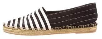 Marc Jacobs Stripe Round-Toe Espadrilles