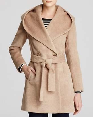 Trina Turk Grace Hooded Alpaca Coat