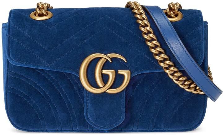 GG Marmont velvet mini bag