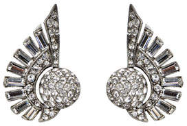Ben-Amun Crystal Deco Clip-On Earrings