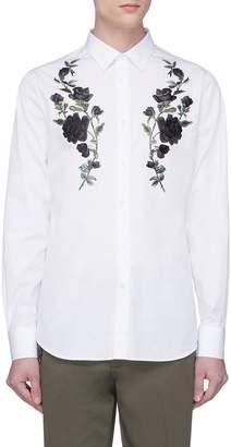 Alexander McQueen Rose embroidered shirt