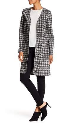 Max Studio Long Tweed Print Jacket