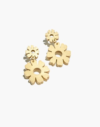 Madewell Wooden Flower Statement Earrings