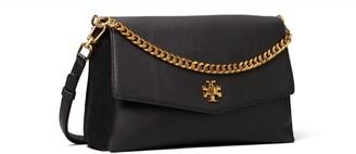 Kira Mixed-Materials Double-Strap Shoulder Bag