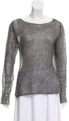 DKNY Mohair Open Knit Sweater