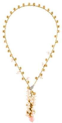 Marco Bicego 18K Diamond & Pearl Lariat