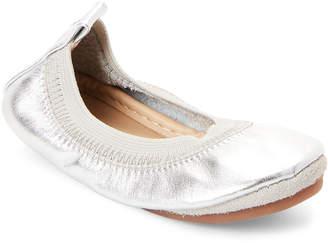 Yosi Samra Toddler Girls) Silver Sammie Ballet Flats
