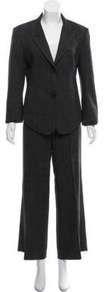 Krizia Wool Wide-Leg Pantsuit