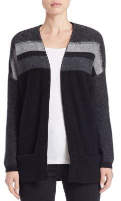 Ply Cashmere Reverse Jersey Striped Cashmere Cardigan