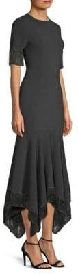 Sachin + Babi Valler Fringed Handkerchief Midi Dress