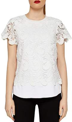 Ted Baker Kitta Layered-Look Lace Top