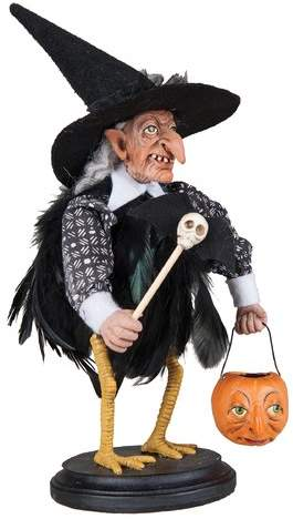 The Holiday Aisle Stella Witch Crow on Stand Figurine