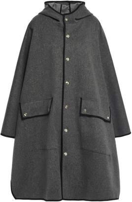 MACKINTOSH Cape-effect Oversized Melange Wool-felt Coat