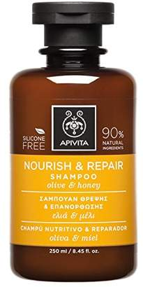 Apivita Nourish & Repair Shampoo with Olive & Honey (For Dry-Damaged Hair) - 250ml/8.45oz