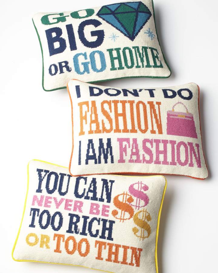 Jonathan Adler Go Big or Go Home Pillow