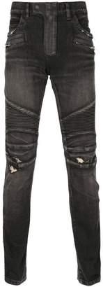 Balmain biker jeans