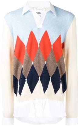 Ballantyne argyle layered sweatshirt