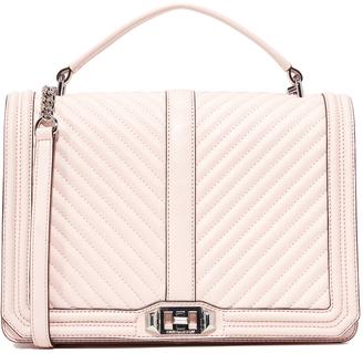 Rebecca Minkoff Geo Quilt Jumbo Love Bag $385 thestylecure.com