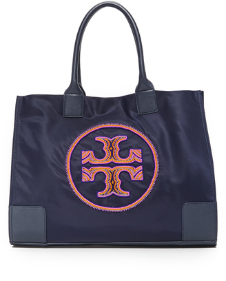 Tory Burch Ella Beaded Logo Tote $250 thestylecure.com