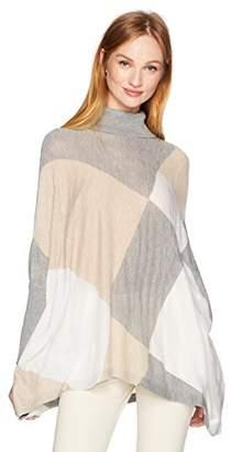 Calvin Klein Women's Turtleneck Cape Sweater