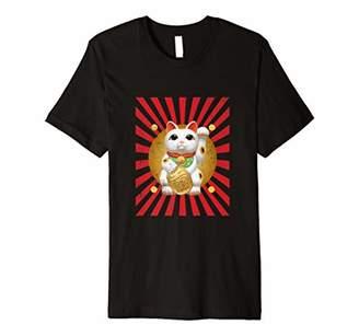 Maneki Neko Lucky Fortune Japanese chinese Cat Gift Tshirt