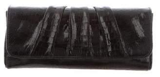 Lauren Merkin Embossed Pleated Clutch