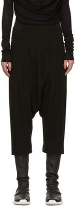 Rick Owens Black Silk Swing Elastic Waist Trousers