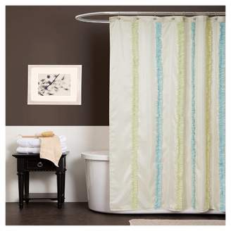 Lush Decor Blue & Green Aria Shower Curtain